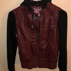 Faux leather jack
